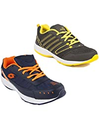 Redon Men's Pack Of 2 Sports Running Shoes (Running Shoes, Jogging Shoes, Gym Shoes, Walking Shoes) - B074HHS3FL