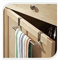 CUPBOARD TOWEL BAR RAIL OVER DOOR HANGER HOOK KITCHEN TOWEL BATHROOM DRAWER
