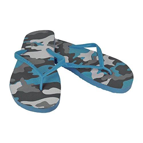 2073 Ciabatte infradito donna fantasia militare 4 colori pantofole mare in gomma. MWS Celeste