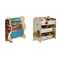 The Gruffalo Kids Sling Bookcase with Bedroom Storage Unit with 6 Bins by HelloHome