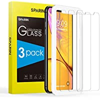SPARIN [3 Stücke] iPhone XR Panzerglas, Schutzfolie Displayschutzfolie iPhone XR mit [9H Härte] [Anti-Kratzen] [Blasenfrei] [2.5D Rand] [HD Klar] [lebenslange Garantie]