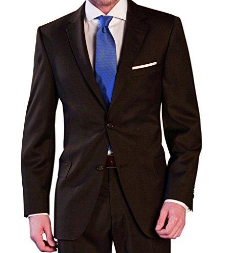 Michaelax-Fashion-Trade Lanificio Tessuti Italia - Regular Fit - Herren Anzug aus reiner Schurwolle in verschiedenen Farben (1941413) (Gr. 44-64, 24-32, 90-122), Farbe:Braun(20), Größe:27