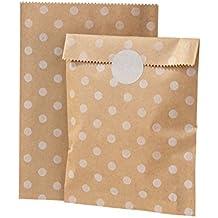 Talking Tables Mix and Match bolsas de dulces de papel de estraza diseño de lunares, 10 unidades