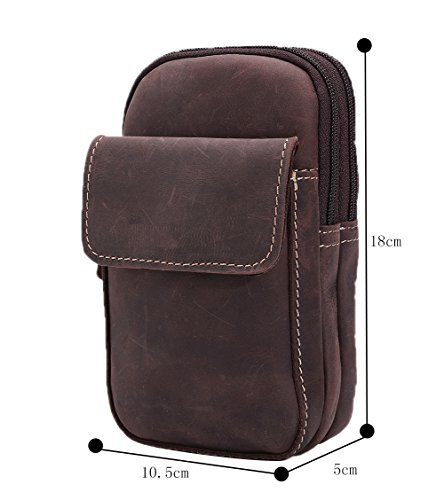Genda 2Archer Cintura di pelle Marsupio Phone Pouch Borsa per uomo (KZ6546) CN3155