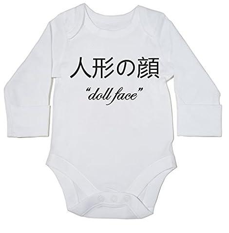 HippoWarehouse ???? 'Doll Face' baby bodysuit (long sleeve) boys girls