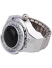 Xiaofeng214 Día Accesorios Reloj Reloj Suena for la joyería de Las Mujeres Anillo de los Hombres del Reloj de Cuarzo electrónico Encanto del Dedo anular de Dropshipping (Main Stone Color : 01)
