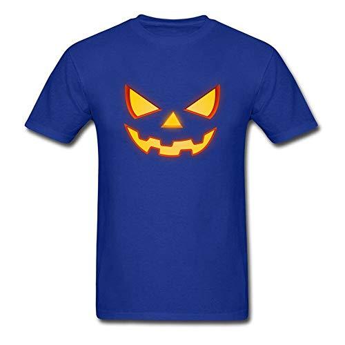Fluse Scary Halloween Horror Pumpkin Face 100% Baumwolle Herren Unisex Humor T-Shirt für Outdoor Sport