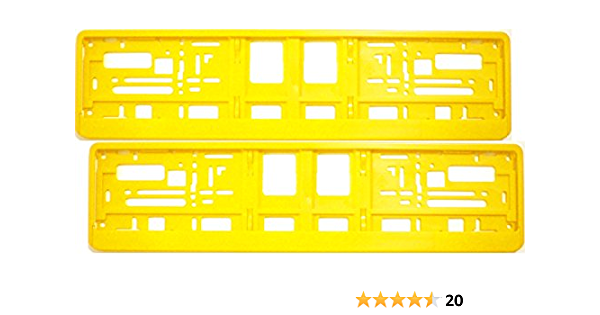 Kennzeichenhalter Gelb Satz 2 Stück Nummernschildhalter Kennzeichenträger Nummernschildträger Kennzeichenverstärker Nummernschildverstärker Garten
