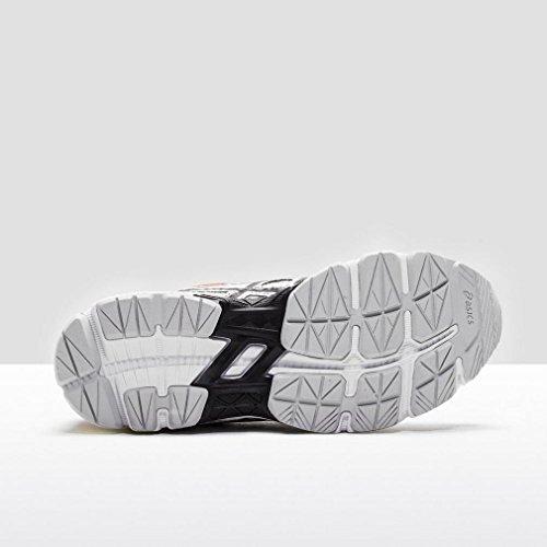 Asics Gt-1000 4 Gs, Chaussures de Course pour Entraînement sur Route Unisexe-Enfant, Noir Blanc/Noir/Rouge
