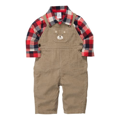 CARTER'S 2 teilig Latzhose Oberhemd Baby Größe 50/56 Junge Outfit Kleidung boy 2 Teile (newborn) Cordhose (50/56)