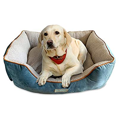Docatgo Pet Bed, Dog Bed with Reversible Cushion, Dog Basket, Machine Washable Comfort Bed for Medium Large Dog by MARYANT, INC.