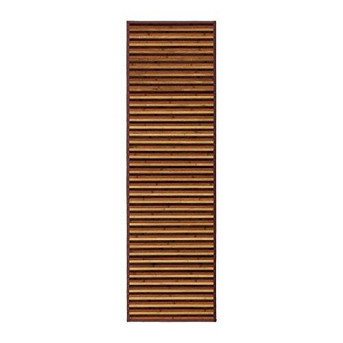Alfombra pasillera árabe marrón de bambú para pasillo de 60 x 200 c