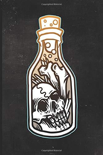 Journal: Bones in a Bottle Tattoo Design Dot Grid Tattoo Flash Sketching Journal (Sailor Jerry Flash)