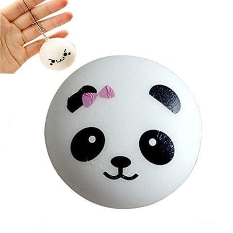 Jouet de Dent squishy – Chickwin 1 pcs 3.9 pouces Kawaii Panda Rising lente Soulagement du stress Cadeau de sangle de téléphone cellulaire de jouet
