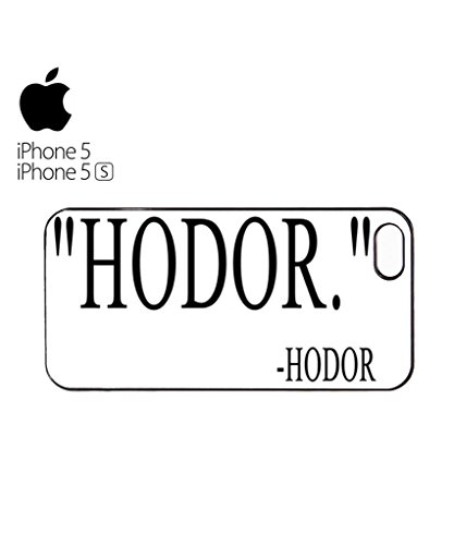 Hodor Quote Mobile Cell Phone Case Cover iPhone 5c Black Blanc