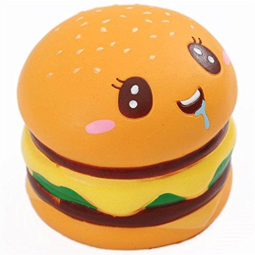 Squishy doppelter Hamburger mit Gesicht mit Aroma