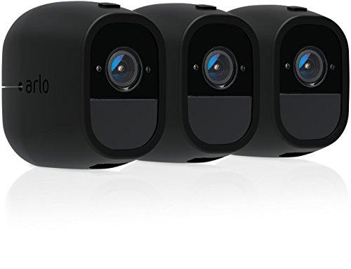 Arlo Pro 2 Silikonbezüge Schirmblende (offiziell, 3 Stück) schwarz, VMA4200C