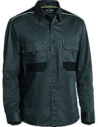 Bisley Workwear UKBS6133_BCCG Stretch Flex & Move - Camiseta de manga larga mecánico, color gris