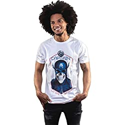 LA SAL Camiseta Capitán América Hombre - T-Shirt District Captain - Talla M Style