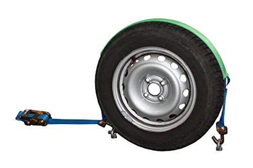 SHZ 4X Spanngurt Auto Transport 50mm Radsicherungsgurt 5t Zurrgurt LC 2.500/5.000 Dan Autotransport Reifengurt (5) - Made in Germany