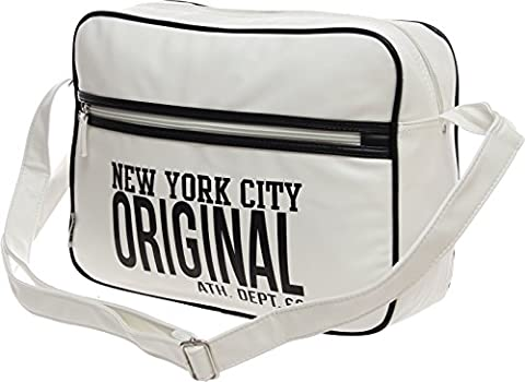Schultasche Schulranzen Schultertasche Citybag Flugbegleiter Umhängetasche Business Messenger Bag Tasche (weiß)
