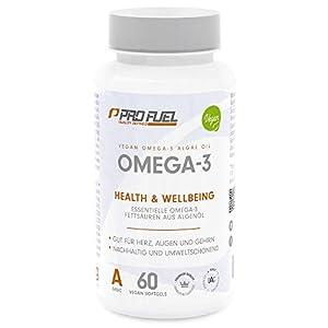 V-OMEGA   Hochwertige Omega-3 Fettsäuren   Hochdosiert • EPA & DHA   100% Vegan – KEIN Fischöl   DAS ORIGINAL von ProFuel   Made in Germany