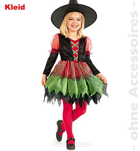 Kinderkostüm Hexe, Kleid, 1-tlg. Gr. 116-140, Halloween, Karneval *NEU bei Pibivibi (128)