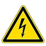 Warnzeichen - Warnung vor gefährlicher elektrischer Spannung - Kunststoff Selbstklebend 30 x 30 cm