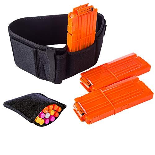 BSPAS 4 Stücke Nerf Strike Taktische Gürtel Kit, 12-Darts Quick Reload Clips Magazin×3 Tasche