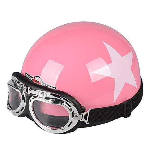 You will think of me Sie werden an mich denken Helmetfour Color Unisex Retro Style Motorrad Motocross Motorradhelm 54-60Cm Mit Brille Sun Shield Necklet, 3