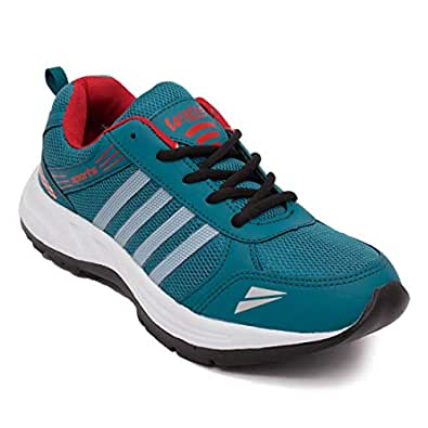 ASIAN Wonder-13 Green Red Running Shoes,Gym Shoes,Sports Shoes,Walking Shoes for Men UK-6