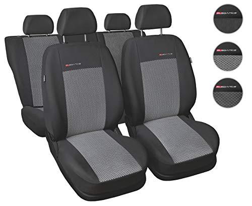 CoprisediliAuto Anteriori e Posteriori Copri-sedile con Airbag Sistema Elegance P2 - Grigio