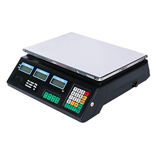 WCX Bilancia Precisione Contapezzi Professionale Industriale 40kg Per Cucina Supermercato Carne Cibo (colore : A, dimensioni : 34X31X11cm)