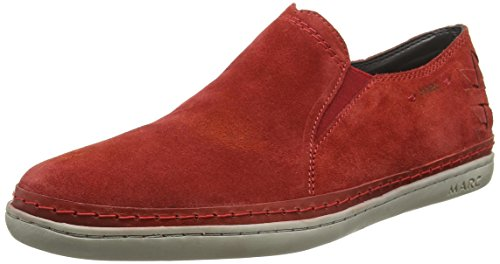 Marc Shoes Dan, Mocassins homme Rouge - Rot (red-combi 651)