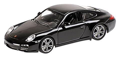 Minichamps - 400066425 - Véhicule Miniature - Modèle À L'échelle - Porsche 911/997 Carrera Black Edition - Echelle