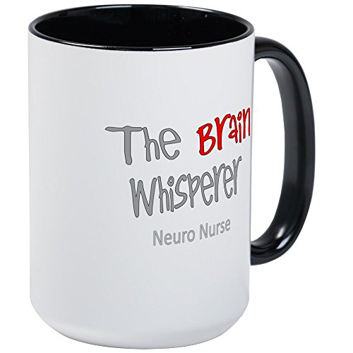 (CafePress–Cardiac Krankenschwester–Kaffee Tasse, groß 15Oz Weiß Kaffee Tasse Large White/Black Inside)