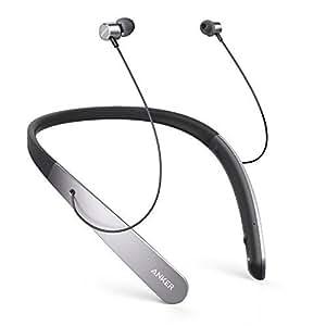 Cuffie Wireless Anker SoundBuds Life Auricolari Leggere a Girocollo, Cuffie Bluetooth Professionali, Resistenza all'Acqua IPX5 e Tecnologia di Soppressione del Rumore con Microfono incorporato e 20 ore di Autonomia di Riproduzione.