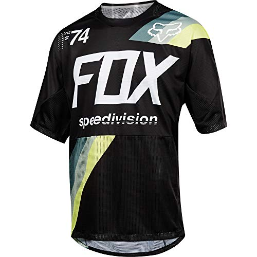 Fox Demo SS Drafter Jersey, noir, Taille S