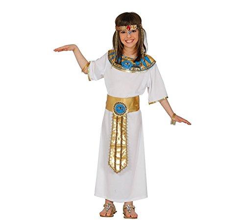 Costume nefertiti egiziana cleopatra carnevale bambina taglia 10-12 anni