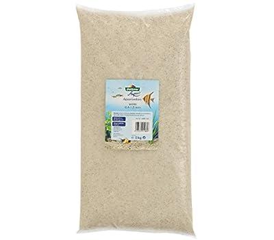 Dehner Aqua Aquarienkies, Körnung 0.4 - 1 mm, 3 x 5 kg (15 kg), weiß