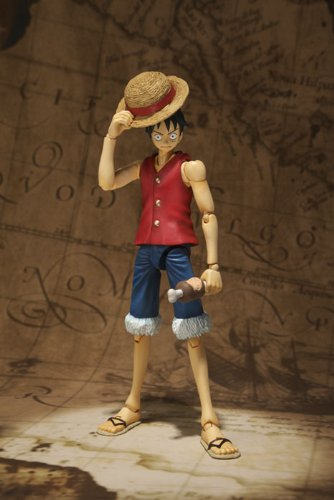 One Piece Bandai S.H. Figuarts 6 Inch Super Articulated Figure Monkey D. Luffy (japan import) 2