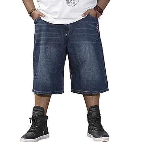 RUIXI Men's Baggy Jeans Loose Shorts Cropped Denim Pants
