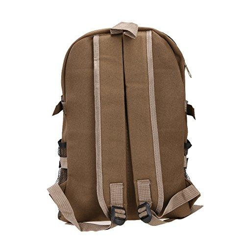 Broadroot Outdoor tela viaggio zaino multifunzione zaino per la scuola montagna escursionismo sacco per uomini ragazzo, Brown Army Green