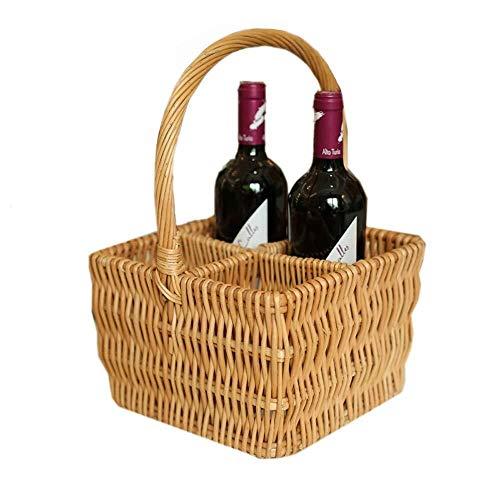 Unbekannt Picknickkorb, Weidenkörbe Willow Woven Storage Basket Weinkorb Geschenkkorb Haushalt