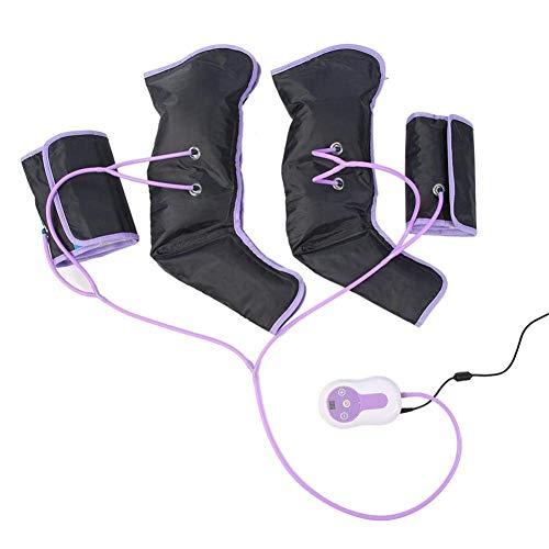 Massaggiatore per Gambe a Compressione D\'aria per Piedi Braccia a Circolazione Elettrica Avvolge per Terapia a Piedi con 9 Livelli di Intensità, per Uso in Casa / Ufficio, Alleviare L\'affaticamento