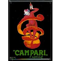 Campari–Mini Targa in lamiera Cartolina–Clown–8x 11cm Nostalgia Retro scudo Metal tin sign