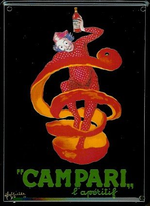 campari-mini-targa-in-lamiera-cartolina-clown-8-x-11-cm-nostalgia-retro-scudo-metal-tin-sign
