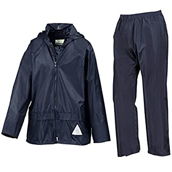 Kids weatherguard jacket and trouser navy age 9-10