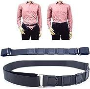 Coxeer Elastic Shirt Stay Adjustable Non Slip Shirt Holder Shirt Suspenders for Unisex