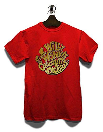 Willy Wonka Chocolate Factory T-Shirt Rot
